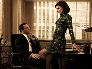 Don Draper (Jon Hamm) and Megan Draper (Jessica Pare) - Mad Men - Season 5 - Gallery - Photo Credit: Frank Ockenfels/AMC